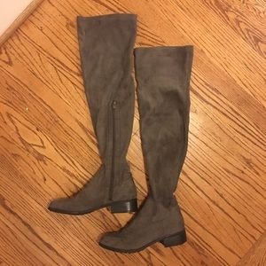 Forever 21 gray over the knee boots size 7.5